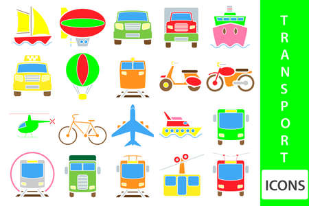 Transportation icon set Illustration