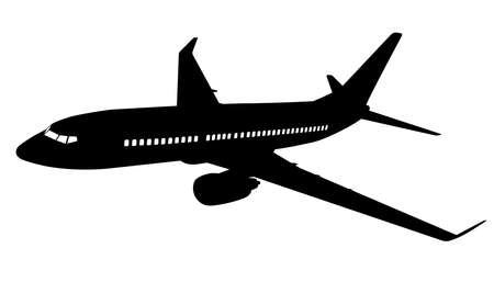Airplane silhouette Vector illustration. Illustration