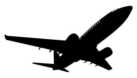 Airplane silhouette Vector illustration. Illustration