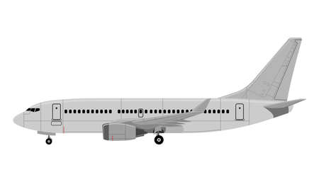 Airplane Vector illustration isolated on  plain background