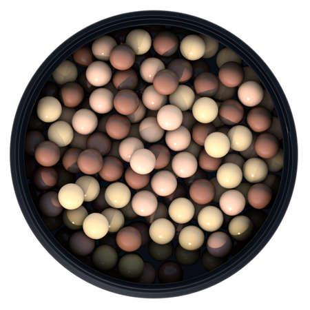 Bronzing pearls. 3D render