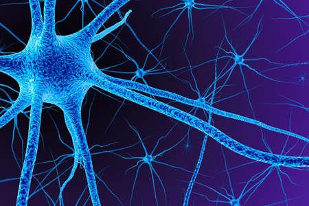 Brain cell. 3D render Stockfoto