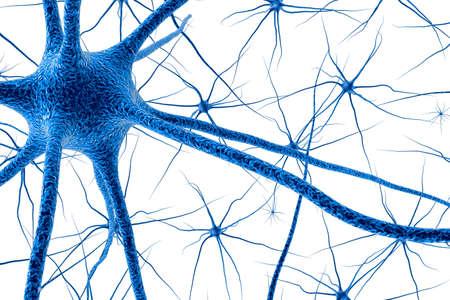 Brain cell. 3D render Banque d'images