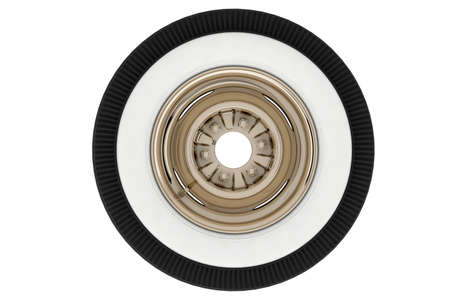 Wheel Nickel plated retro. 3D render Stock Photo