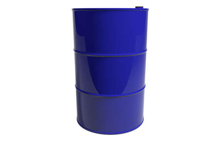 New metal blue barrel. Isolated. 3D render.