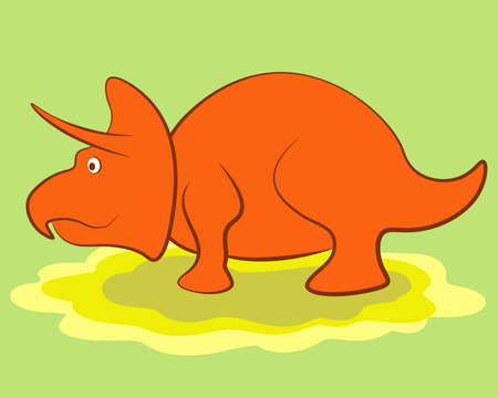 Vector illustration of Cartoon Dinosaur. Clip art Illustration