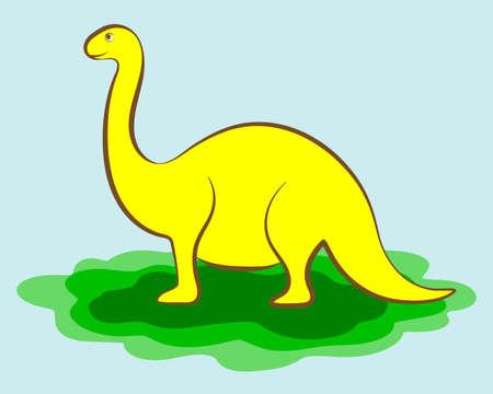 Cartoon Dinosaur Character Vectores