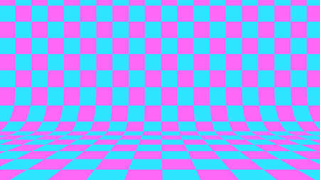 Abstract checkered background. 3D render