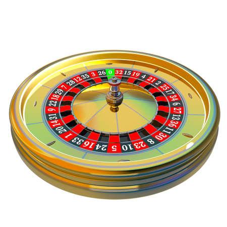 Casino roulette wheel Stock Photo