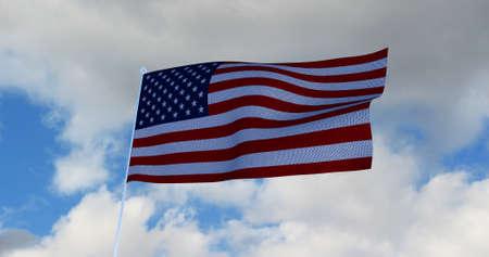 USA American Flag. 3D render