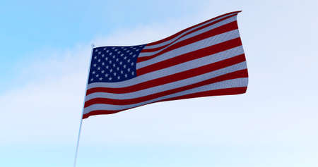 USA American Flag. 3D render