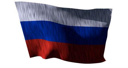 Russia Flag 3D render