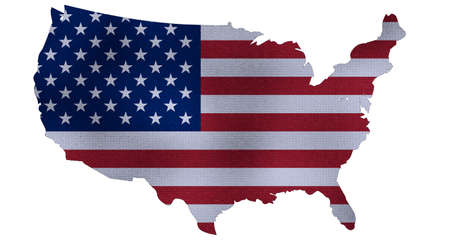 United states map 3D render