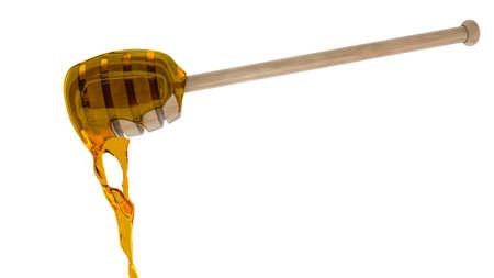 Honey dripper isolated 3D render