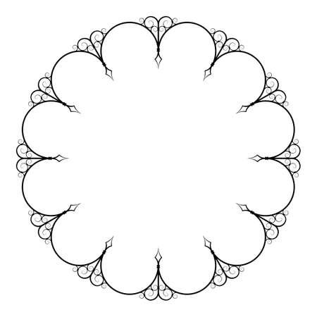 Decorative round frame Illustration
