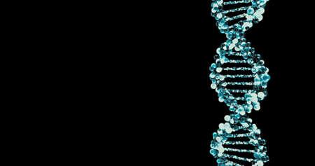 DNA molecule structure. 3D render