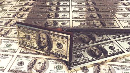 Dollar bills. 3D render Stock Photo