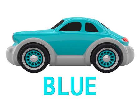 Toy car. 3D render
