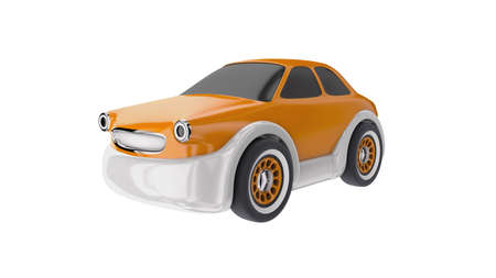 Toy car isolated on white background 3D render Stockfoto