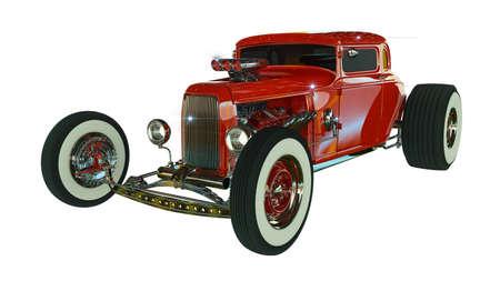 Hot Rod 3D render Archivio Fotografico - 120843045