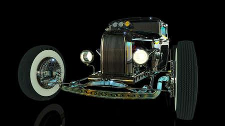 Hot Rod 3D render Archivio Fotografico - 120843053