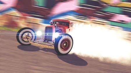 Hot Rod Drift 3D render