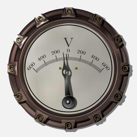 Antico dispositivo di misurazione nello stile del vettore steampunk