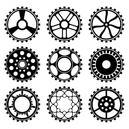 Gears set in the style of steampunk vector Illustration