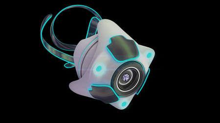 Nano robot 3D render