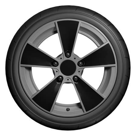 Slick wheels 3D render