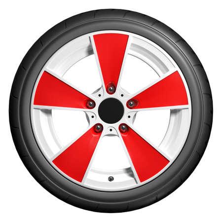 Slick wheels 3D render