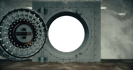 Render of the vault door. 3D