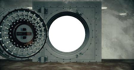 Render of the vault door. 3D