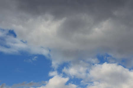Blue sky with cloud. Stock photo. Nature Stockfoto