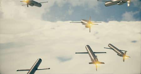 Cruise missile. 3D render