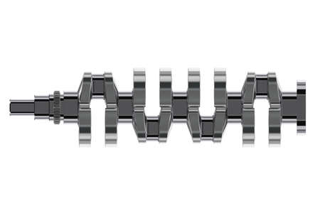 4 in line crankshaft. 3D render Stock Photo
