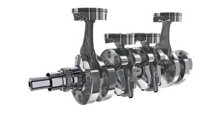 4 in line engine. 3D render