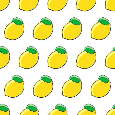 Seamless lemon pattern.Vector illustration.Template for print, textile,wallpaper cover and design.