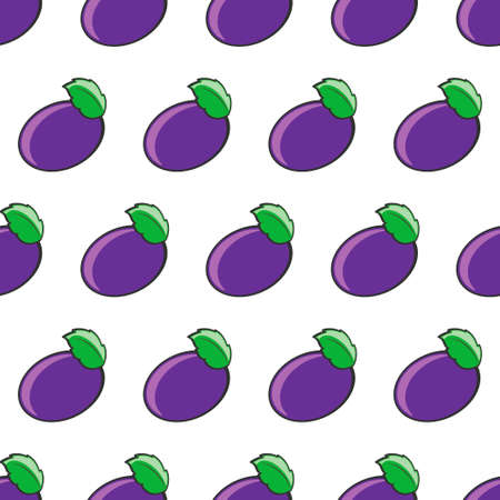 Seamless plum pattern.Vector illustration.Template for print, textile,wallpaper cover and design.