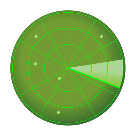 Radar icon isolated on white
