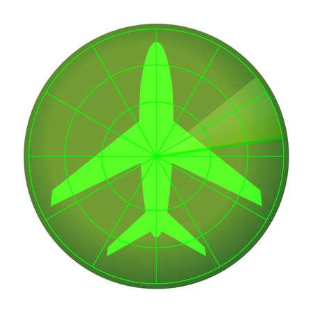 Radar icon isolated on white