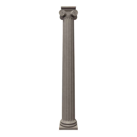 Greek column isolated on white 3D render
