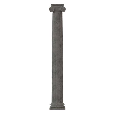 Greek column isolated on white 3D render