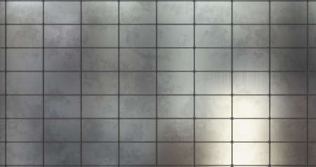 Metal background wall. 3D render metal panel