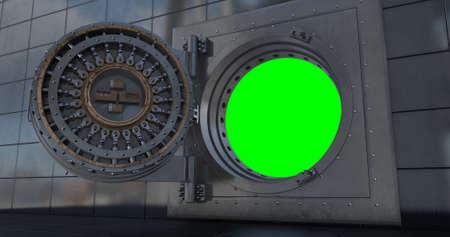 Render of the vault door. 3D render