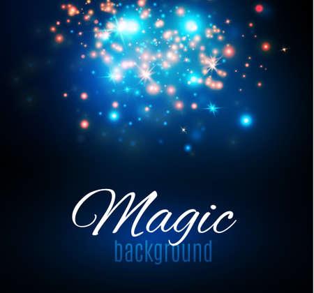 starfield: Magic Dust. Infinity. Abstract Background. Stars. Vector illustration