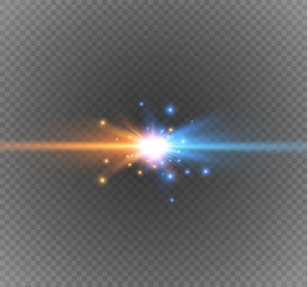 collision of two forces on a transparent background Illustration