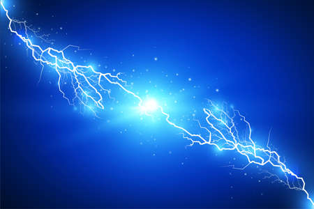 Set of lightnings. Magic and bright lighting effects. Vector Illustration Reklamní fotografie - 79460330