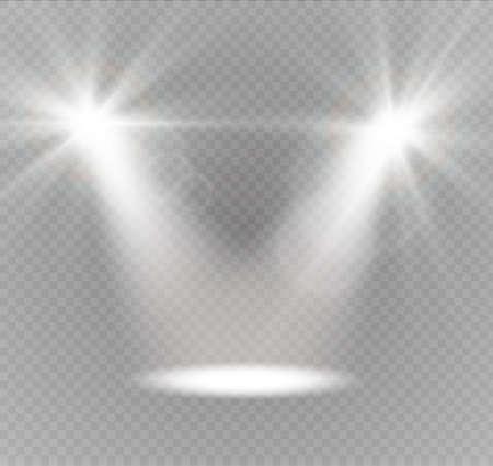 Vector schijnwerpers. Licht effect.