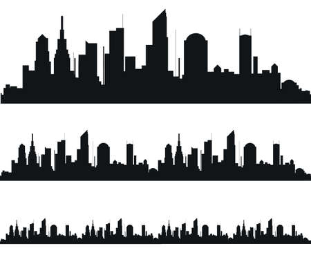 districts: The silhouette of the city in a flat style. Modern urban landscape.vector illustration